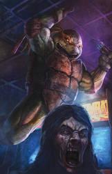 TMNT vs Zombies: Michelangelo by pinkhavok
