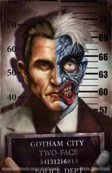 Gotham City Mugshots: Two-Face by pinkhavok