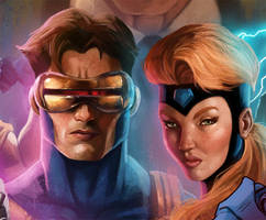 Cyclops and Jean Grey by pinkhavok