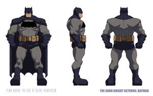 The Dark Knight Returns Animated: Batman Suit 02 by pinkhavok