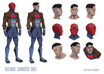 Red Hood Character Sheet by pinkhavok