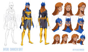 Batgirl Character Sheet by pinkhavok