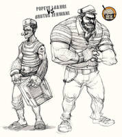 popeye and Brutus by Pyroow