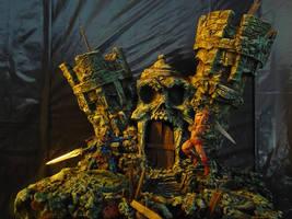 He Man and Skeletor painted by JOPUTAPELIRROJO