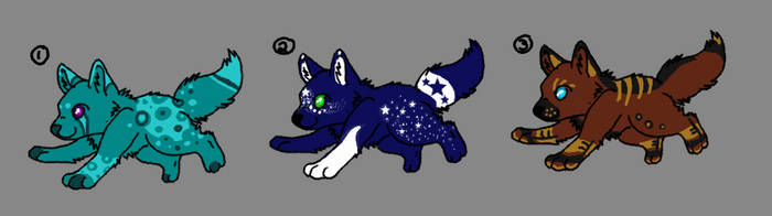 Wolf pups adoptables :CLOSED: by Nikita357