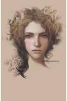 face of a girl by Lenap