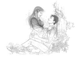Com : Curvy girl and skinny boy by Ludimie