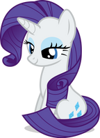 Mlp Fim Rarity (sit down) vector by luckreza8
