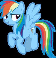 Mlp Fim Rainbow Dash (yeah) Vector by luckreza8