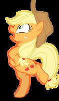 Mlp Fim Applejack (Chicken) vector by luckreza8