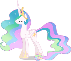 Mlp Fim Princess Celestia (smile) vector by luckreza8