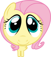 Mlp Fim Fluttershy (cute face) vector by luckreza8