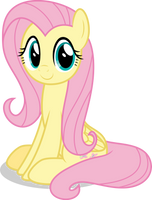 Mlp Fim Fluttershy (happy) vector #5 by luckreza8