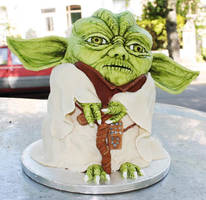 Star Wars Master Yoda Cake by KatesKakes