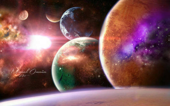 Trappist-1 solar system by tlacuilopilo