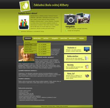 ZS sv. Alzbety- webdesign by Silence-sk