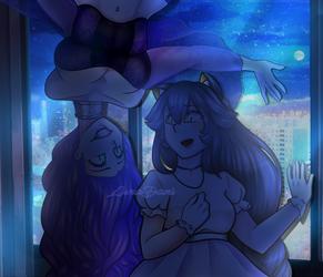 Sora y Emi - Art Trade by lunadani