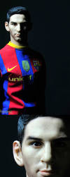 handmade messi(Barcelona football player) by iminime
