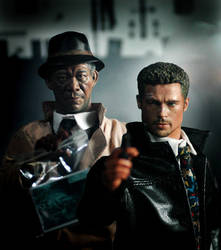 Detectives in serial killer movie Seven by iminime
