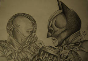 Batman vs. Bane by naeerr