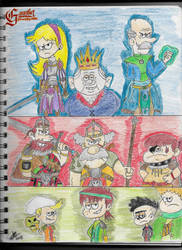 Gauntlet: Villains of Royal Woods (Pt.1 Colored) by RoyalWoodsRooster