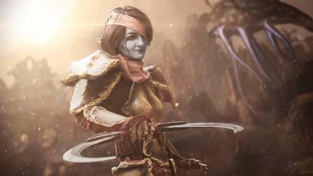 Vvardenfell stranger - Redoran Warrior by WhiteDemon19