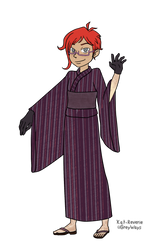 Reference - Clive's yukata by kat-reverie