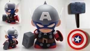 Captain America Thor Munny by xf4LL3n