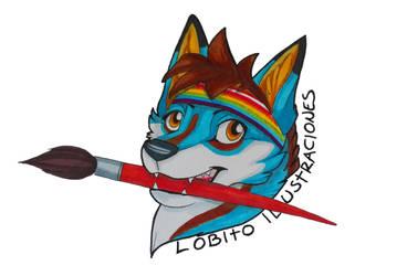 Lobito Ilustraciones Logo by HowlingWolfSong