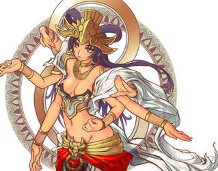 Krieal the KARI goddess by henreki-san