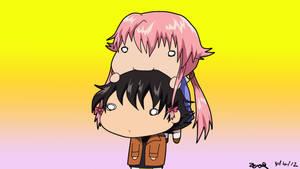 Yuno Nibbles on Yuki's Head by Zero-Q