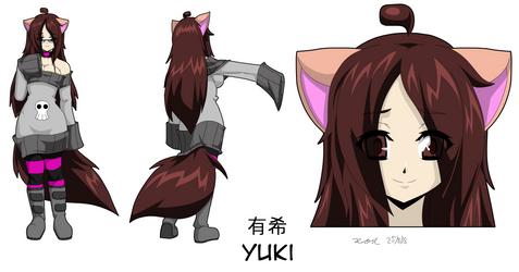 Commission - Yuki Character Sheet by Zero-Q