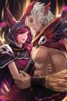 Xayah and Rakan by lee989y