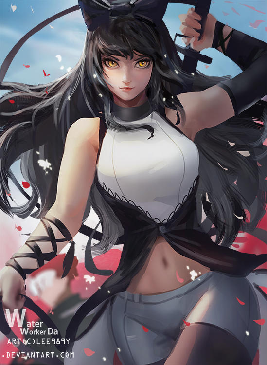 RWBY Volume 4 - Blake's New Outfit - Colored by https ...  |Rwby Blakes Glowing Paints