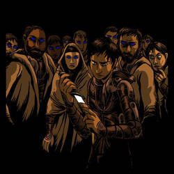 Dune: Paul with Crysknife by devilevn