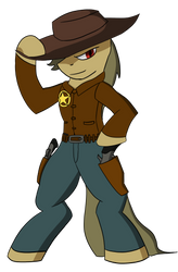 Cowboy pony by lookup4napkins
