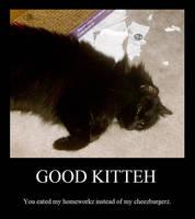 Good Kitteh by GodivaGoddess33
