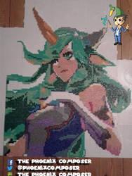 Pixel art - Soraka SG from League of Legends by ThePhoenixComposer