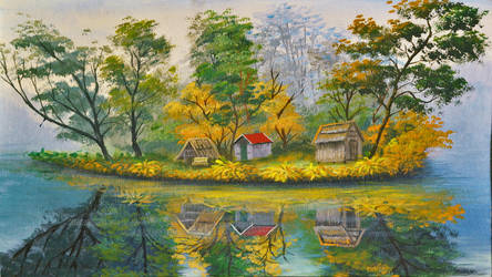 Landscape and Lake by beejay-artlife12