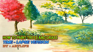 How to paint trees and grasses by beejay-artlife12