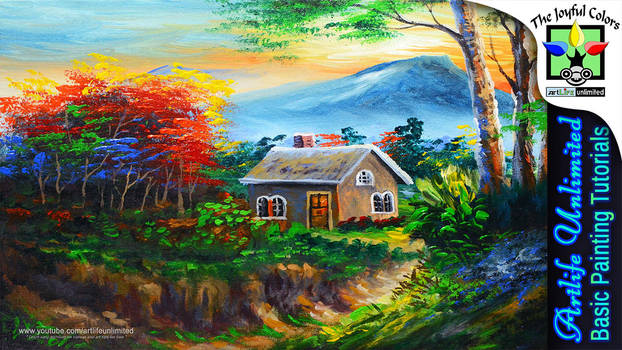 BASIC HOUSE AND AUTUMN TREES by beejay-artlife12
