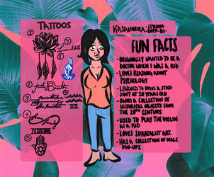 Meet the Artist Fun Facts Page by ThePhilosophicalJew