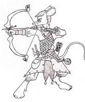Mouse Warrior Commission by TarathielLyris