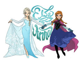 [Frozen] Elsa and Anna by Retdis