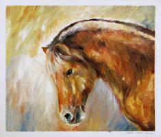50in09-43: Fjord Pony by helekri