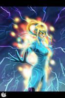 Power Suit Samus by Pdubbsquared