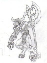 Minotaur Sentry by martfam816