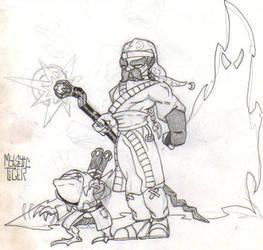 Battle Mage and sidekick by martfam816