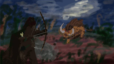 Boar Hunt - 30 minute Spitpaint by Zonalar