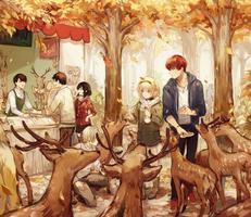 visiting deer by yukihomu